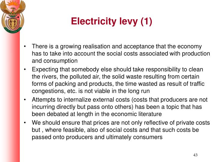 Electricity levy (1)