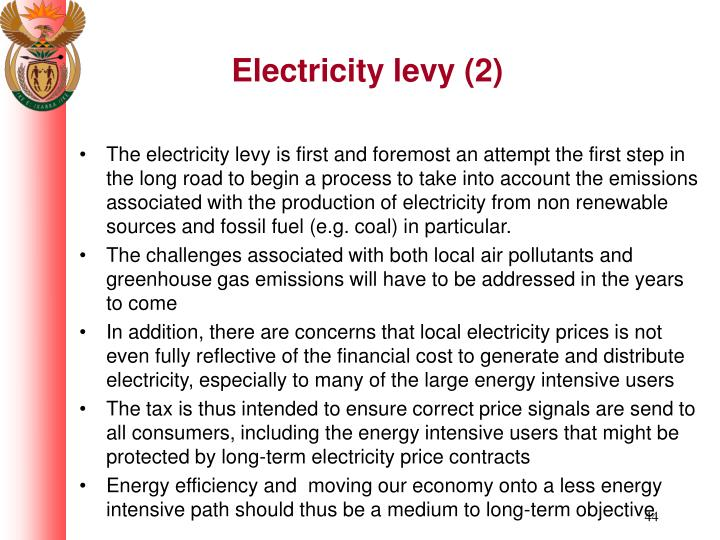 Electricity levy (2)