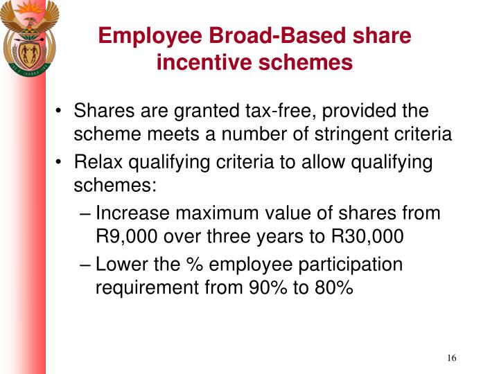 Employee Broad-Based share incentive schemes