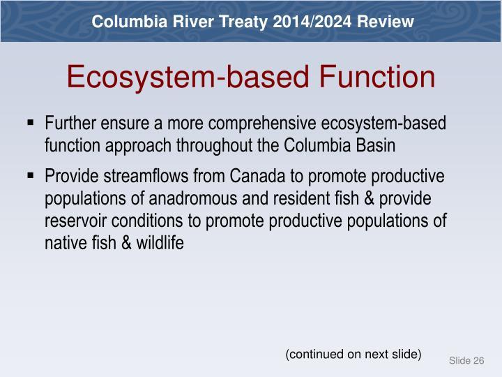 Ecosystem-based Function