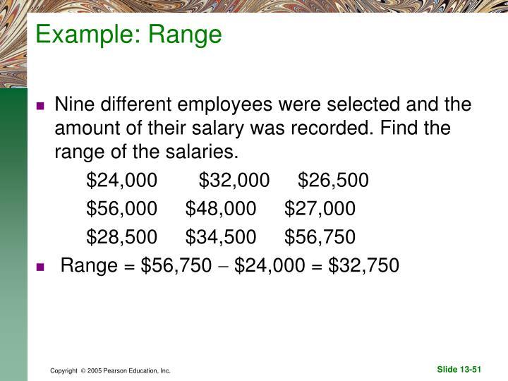 Example: Range