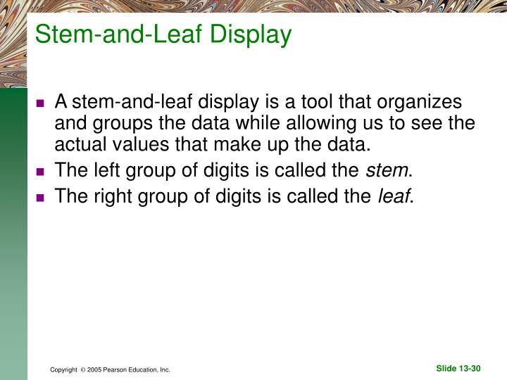 Stem-and-Leaf Display