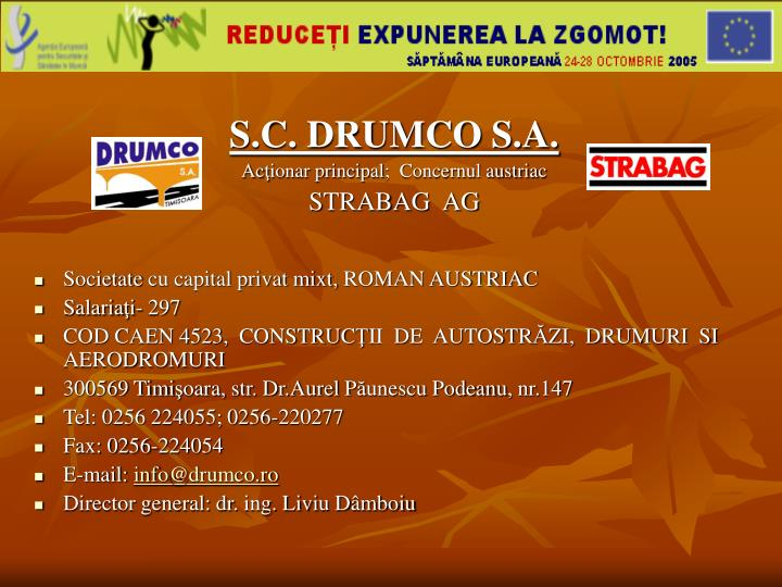 S.C. DRUMCO S.A.