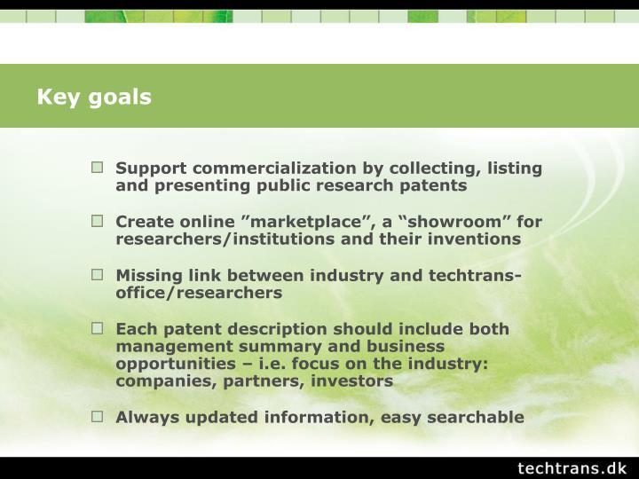 Key goals
