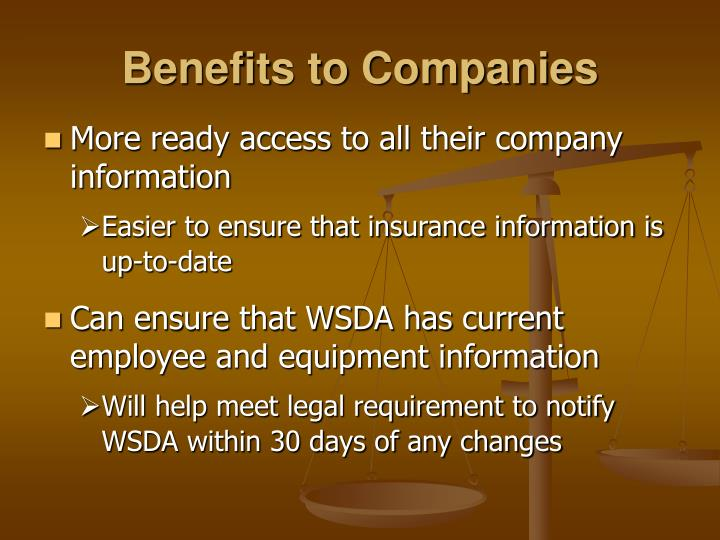 Benefits to Companies
