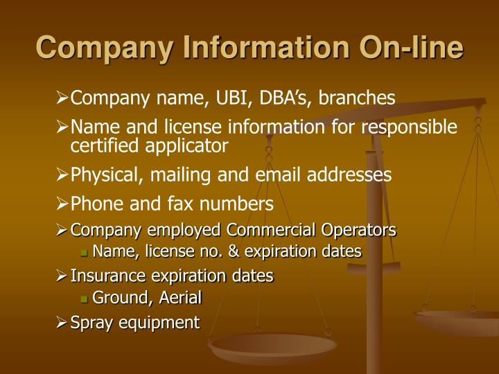 Company Information On-line