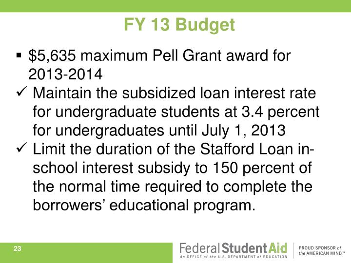 FY 13 Budget