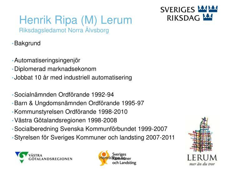 Henrik Ripa (M) Lerum