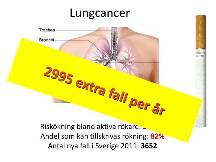 Riskökning bland aktiva rökare: