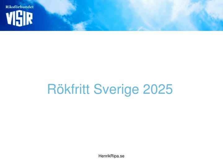 Rökfritt Sverige 2025