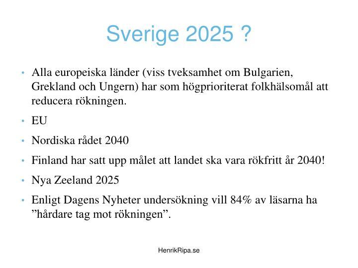 Sverige 2025 ?