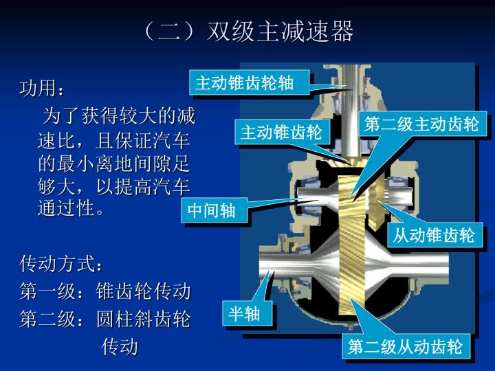 (二)双级主减速器