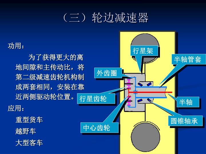 (三)轮边减速器