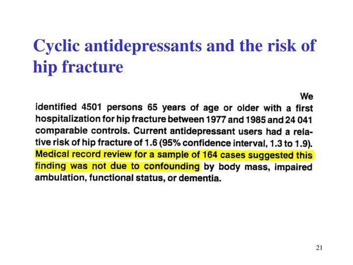 Cyclic antidepressants and the risk of hip fracture