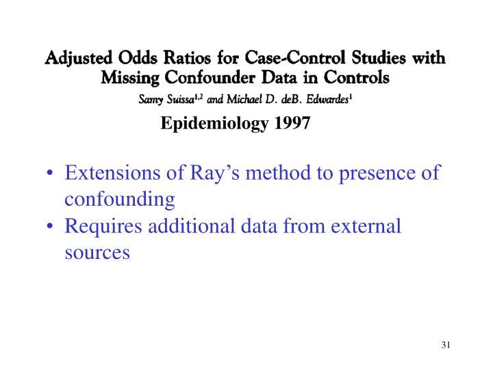 Epidemiology 1997