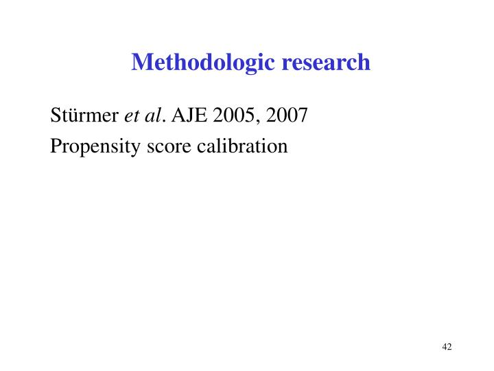 Methodologic research