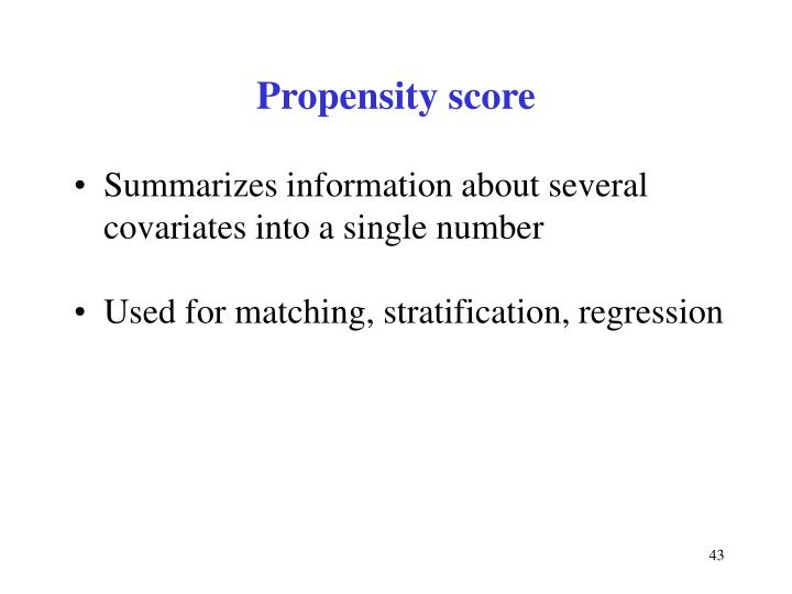 Propensity score