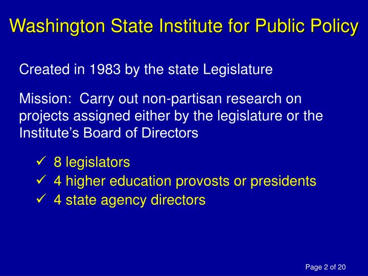 Washington State Institute for Public Policy