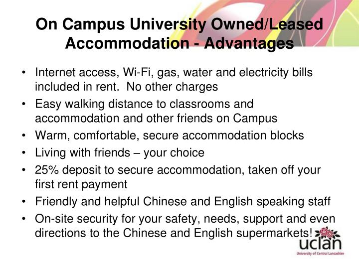 On Campus University Owned/Leased Accommodation - Advantages