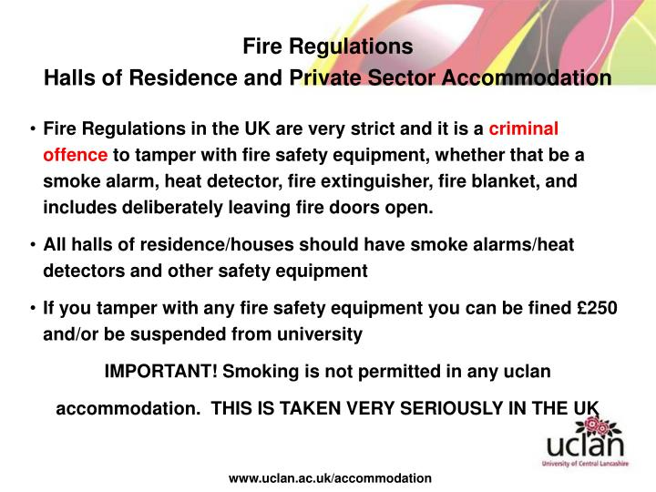 Fire Regulations