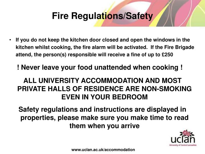 Fire Regulations/Safety