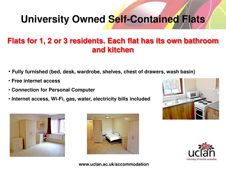 University Owned Self-Contained Flats