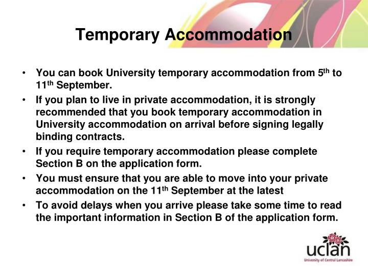 Temporary Accommodation