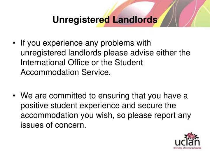 Unregistered Landlords