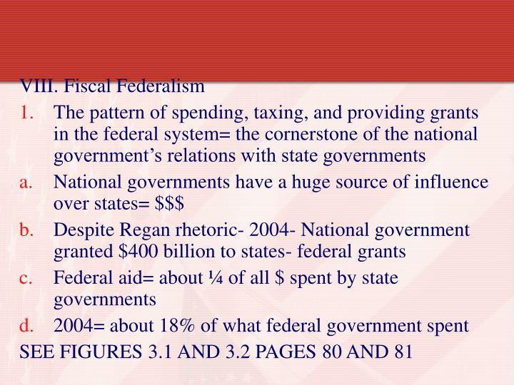 VIII. Fiscal Federalism