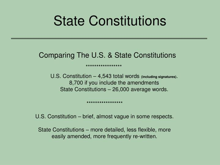 State Constitutions
