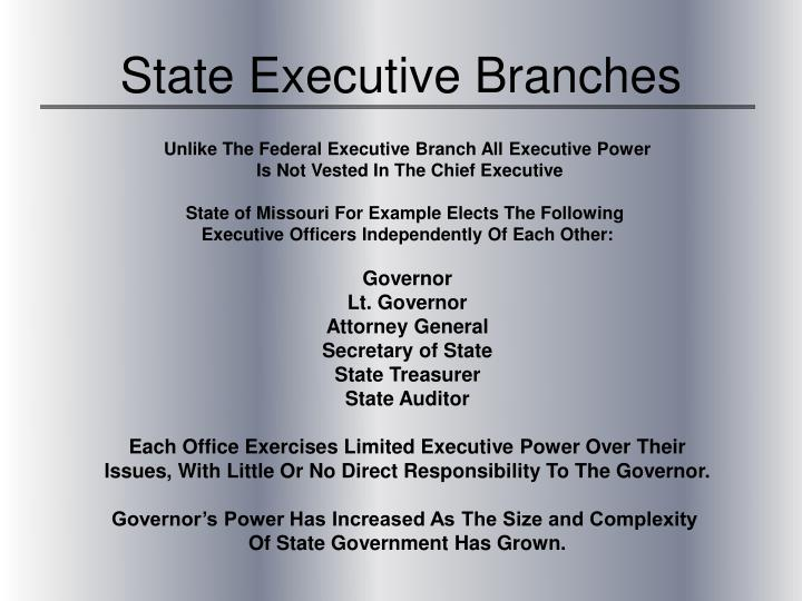 State Executive Branches