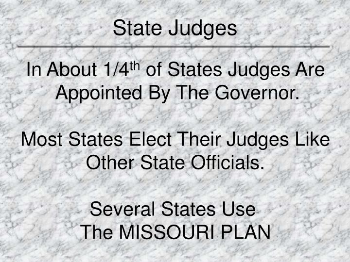 State Judges