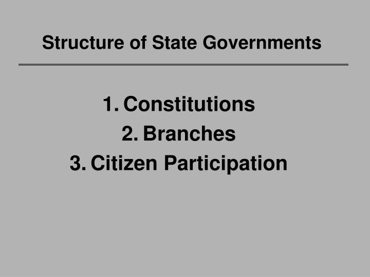 Structure of state governments