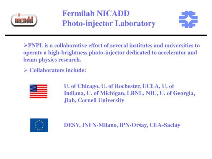 Fermilab NICADD