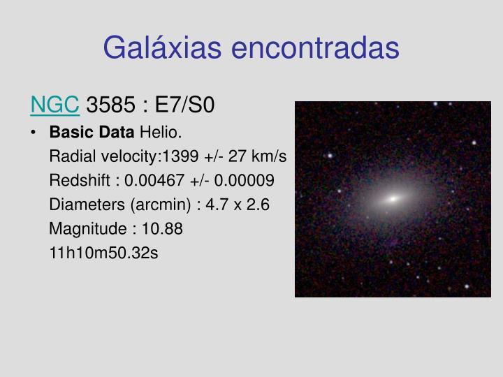 Galáxias encontradas
