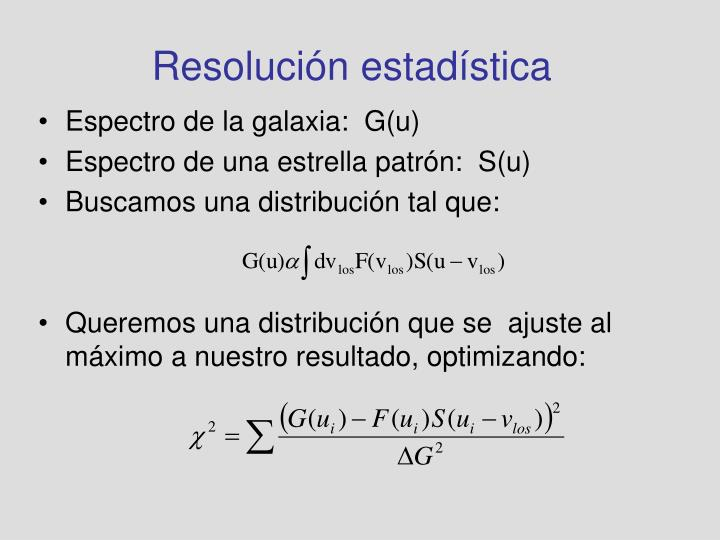 Resolución estadística