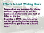 efforts to limit working hours1