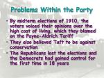 problems within the party1