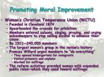 promoting moral improvement1