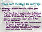 three part strategy for suffrage