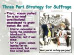 three part strategy for suffrage1