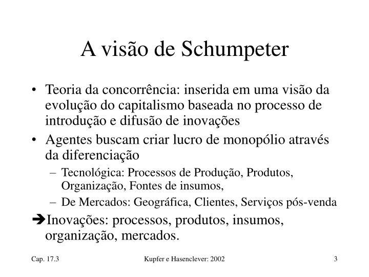 A visão de Schumpeter