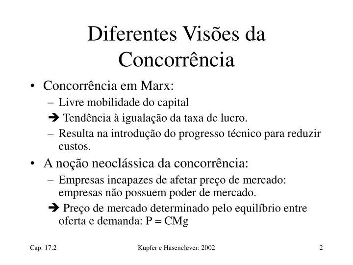 Diferentes Visões da Concorrência