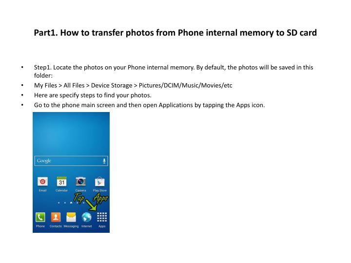 Part1 how to transfer photos from phone internal memory to sd card