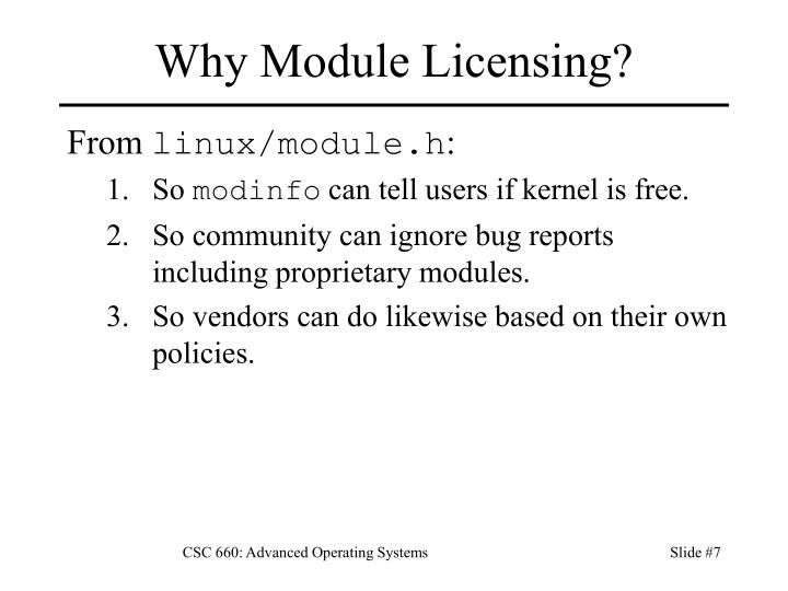Why Module Licensing?