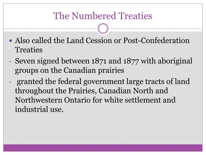 The Numbered Treaties