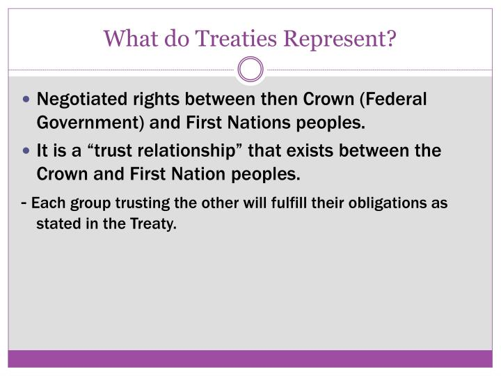 What do Treaties Represent?
