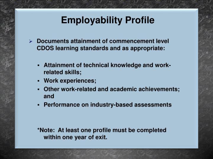 Employability Profile