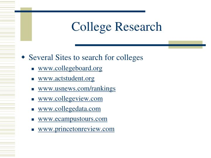College Research