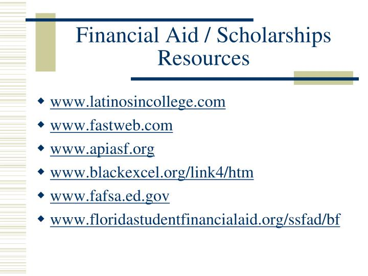 Financial Aid / Scholarships Resources